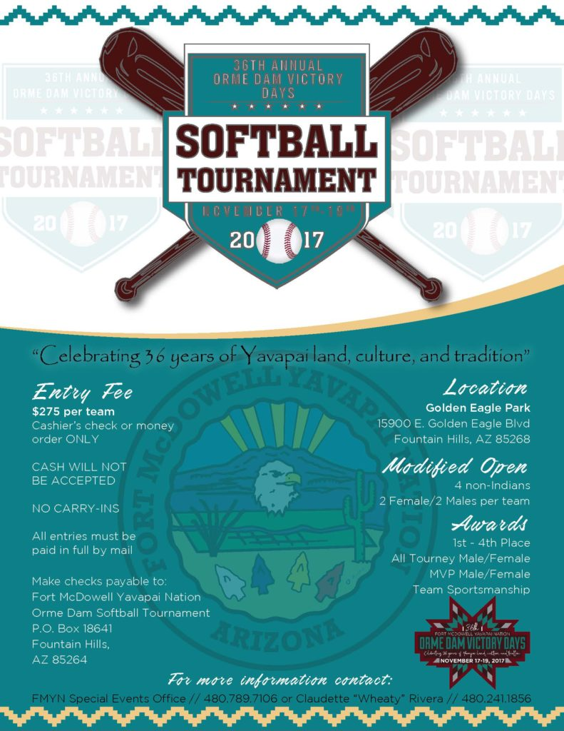 Orme Dam Softball Tournament Fort Mcdowell Yavapai Nation