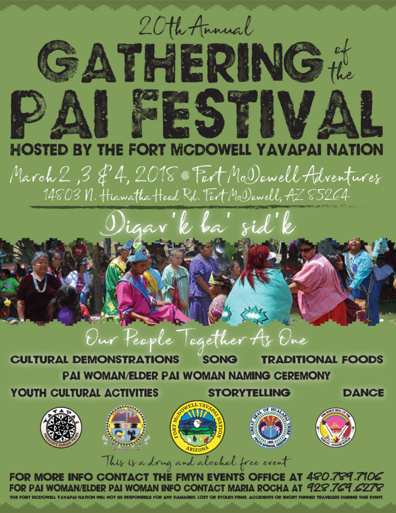 2018 Gathering of the Pai Flyer
