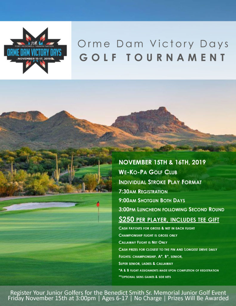 Orme Dam Victory Days Golf Tournament Fort Mcdowell
