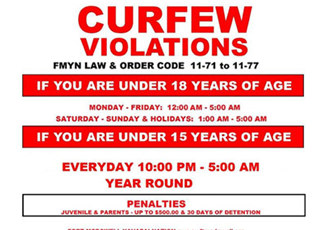 curfew violation Are you sure you want to really remove this are you sure you want to really remove this curfew violation.