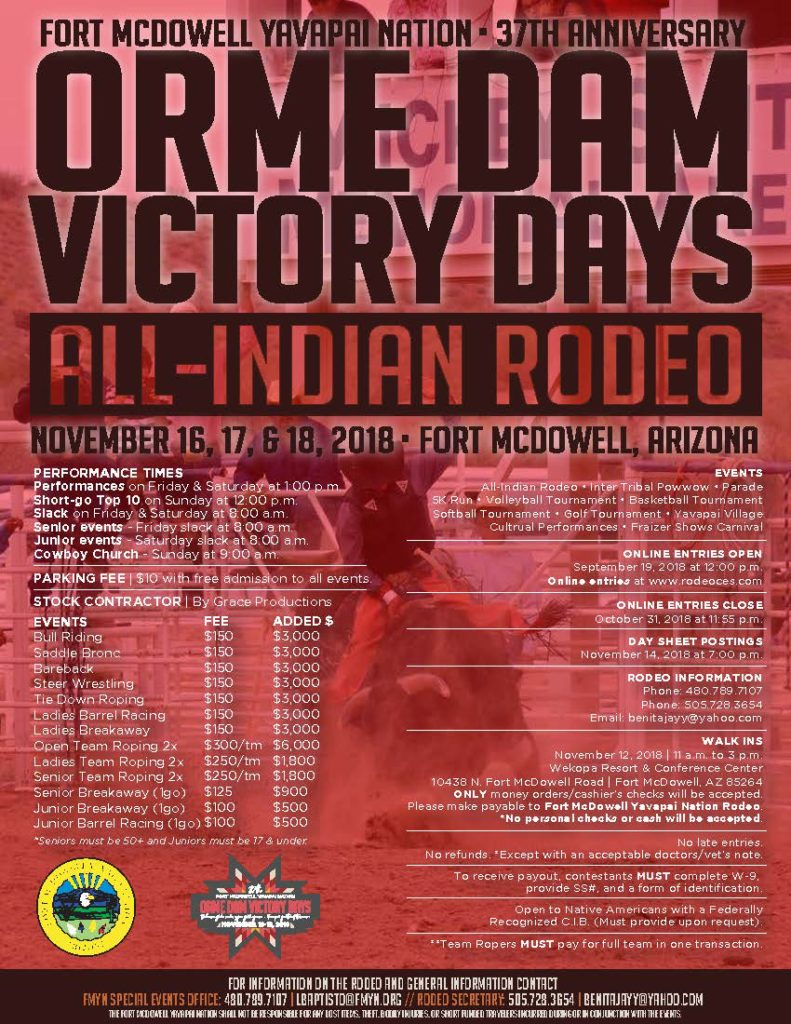 Orme Dam Victory Days Rodeo Fort Mcdowell Yavapai Nation