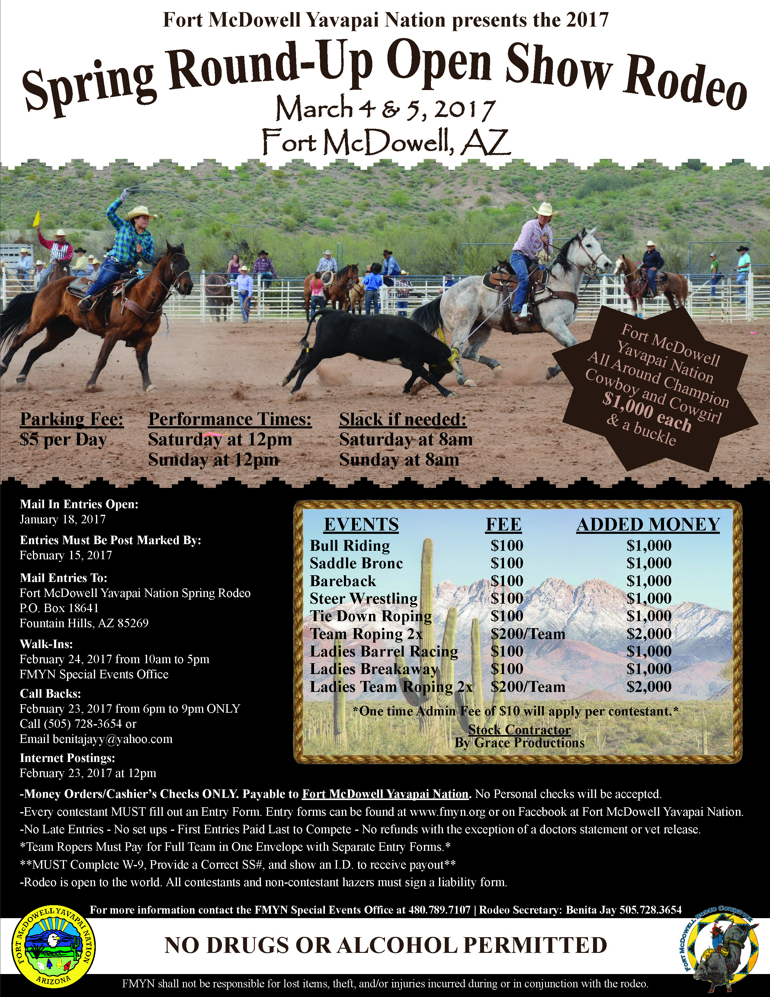 Spring Round Up Rodeo Fort Mcdowell Yavapai Nation