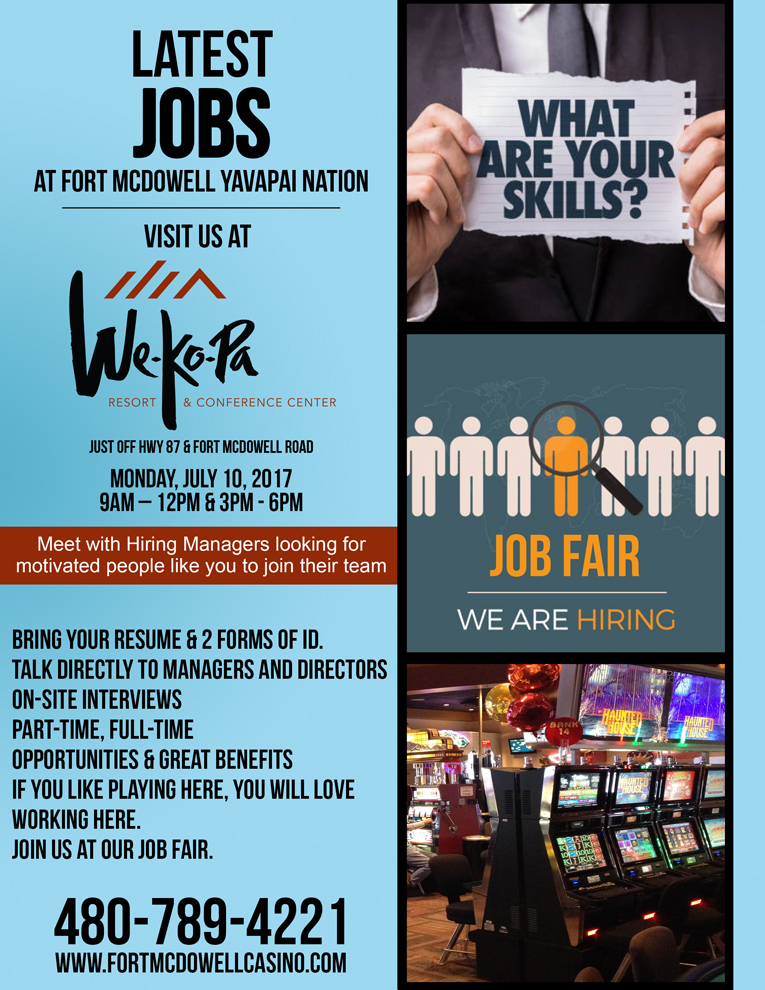 Jobs Fair  Fort Mcdowell Yavapai Nation