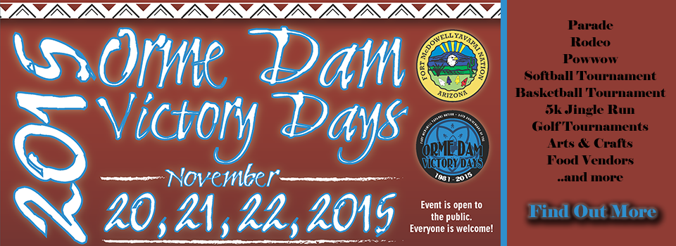 Orme Dam Victory Days Banner 2015
