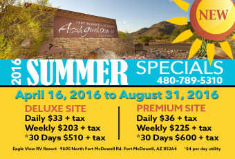 RV Resort Summer Specials 2016