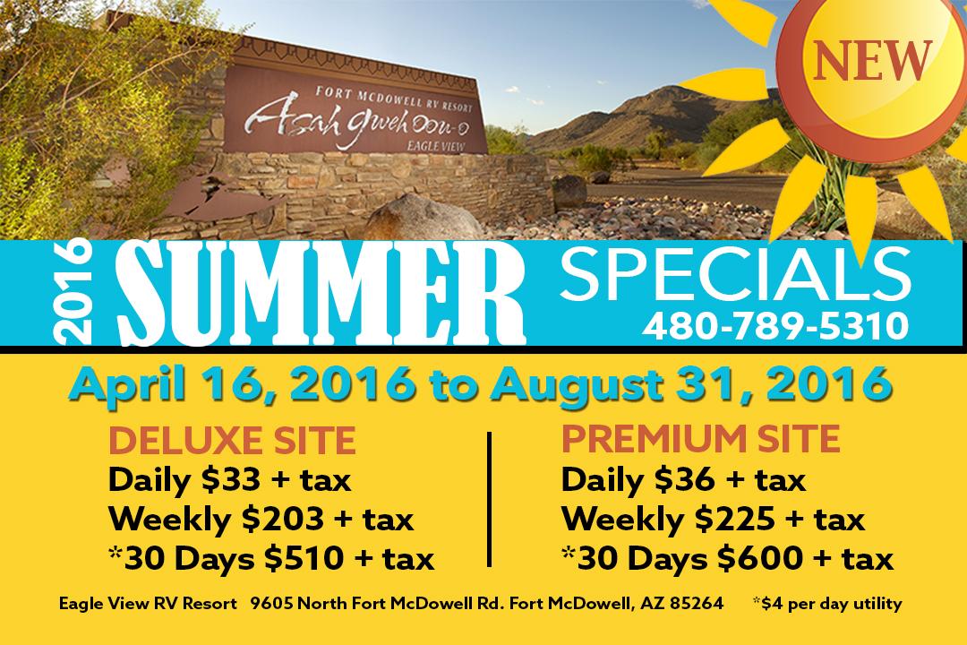 RV Resort Summer Specials 2016